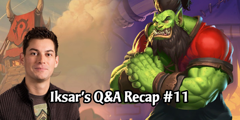 Dean Ayala's Community Q&A #11 - Diamond Cards for Old Expansions, Warcraft IP, Cross-Franchise Content