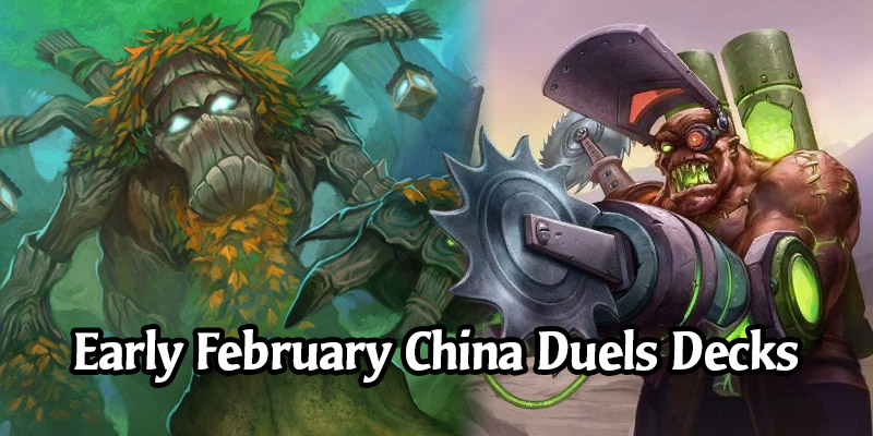 Hot Decks for Hearthstone's Duels Mode From China - Early February 2021