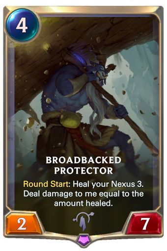 Broadbacked Protector Card Image