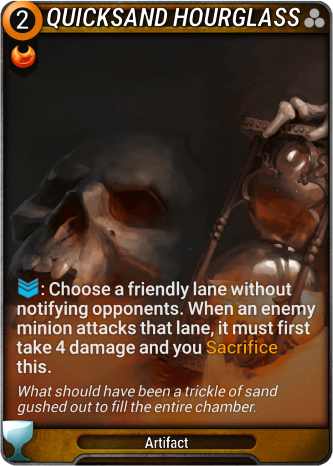 Quicksand Hourglass Card Image