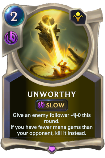 Unworthy Card Image