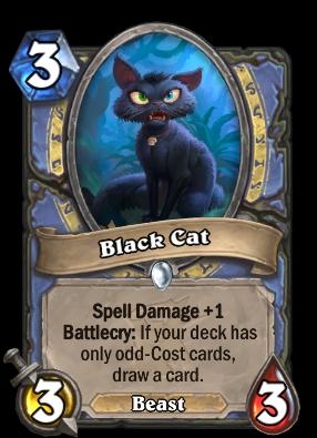 Black Cat Card Image
