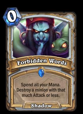 Forbidden Words Card Image