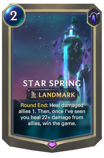 Star Spring Card Image