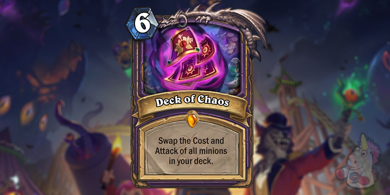 Deck of Chaos is a New Warlock Legendary Revealed for Hearthstone's Darkmoon Faire Expansion