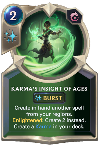 Karma's Insight of Ages Card Image