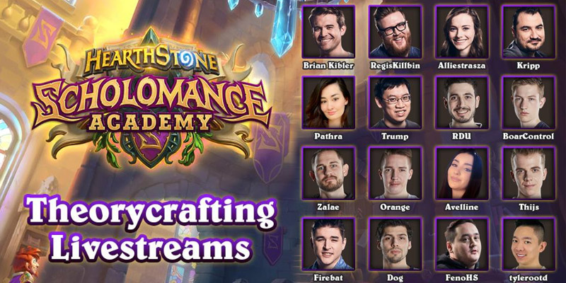 Hearthstone Theorycrafting Streams for Scholomance Academy This Thursday, July 30