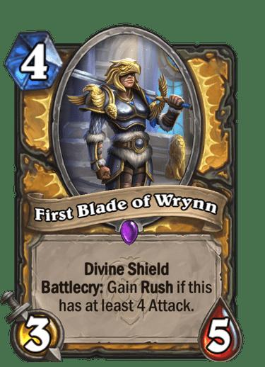 First Blade of Wrynn Card Image
