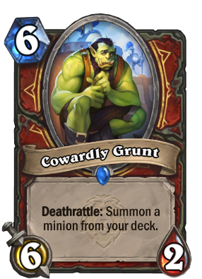 Cowardly Grunt Card Image