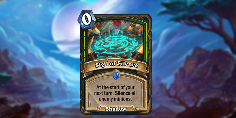 Buffed Reveals a New Forged in the Barrens Demon Hunter Card - Sigil of SIlence