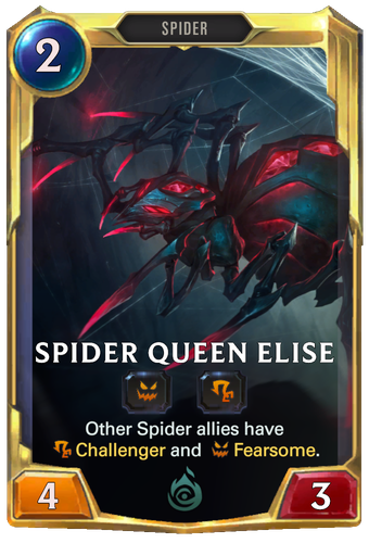 Spider Queen Elise Card Image
