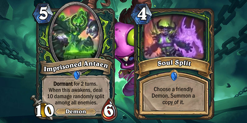 Imprisoned Antaen & Soul Split are new Demon Hunter Cards for Hearthstone's Ashes of Outland Expansion