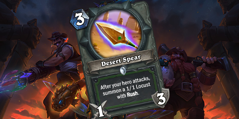 Uldum Hunter Card Reveal - Desert Spear