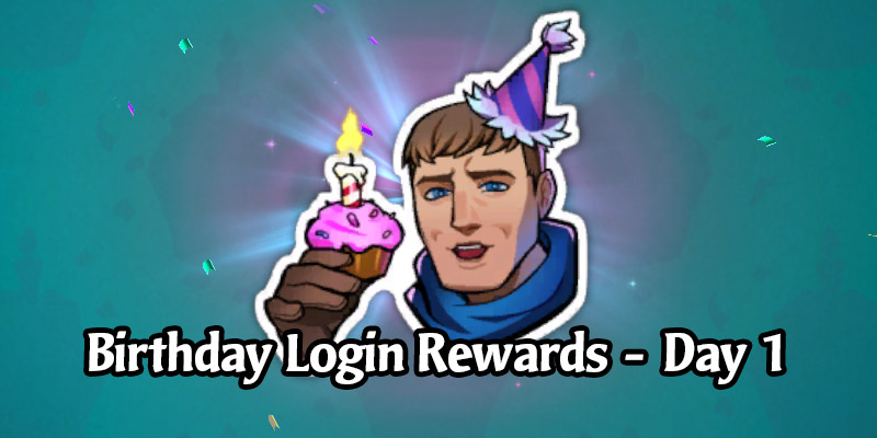 Today's Legends of Runeterra Anniversary Celebration Login Gift is a Garen Emote