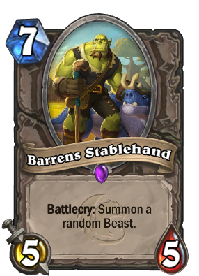 Barrens Stablehand Card Image