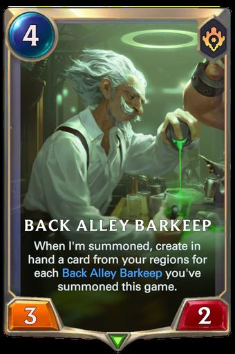 Back Alley Barkeep Card Image