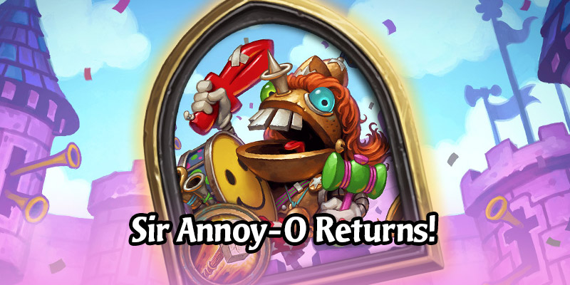 Sir Annoy-O the Annoying Alternate Paladin Hero is Back in the Hearthstone Shop