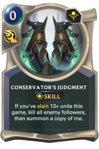 Conservator's Judgment Card Image