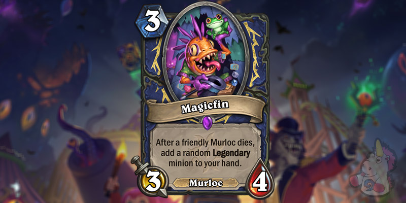 Magicfin is a New Shaman Murloc Revealed for Hearthstone's Darkmoon Faire Expansion