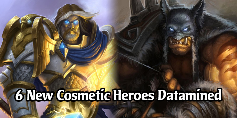 Hearthstone's 18.0 Patch Includes Data for 6 New Cosmetic Hero Skins for Hunter, Mage, Paladin, and Warrior