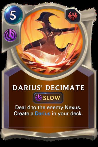Darius' Decimate Card Image