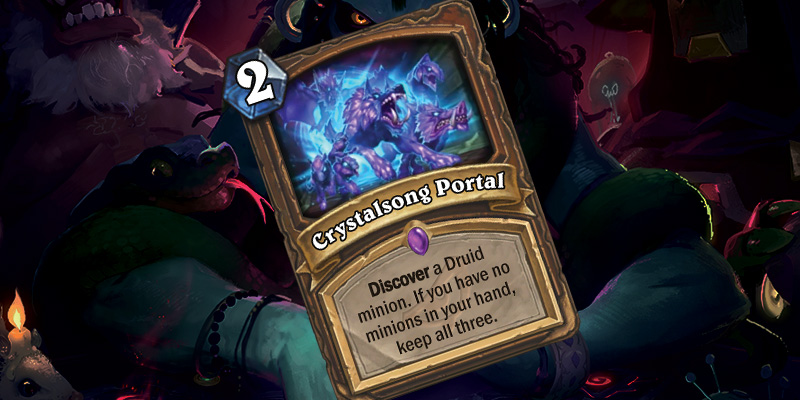 New Epic Druid Spell - Crystalsong Portal (+ Fluffy Squirrel Whisperer)