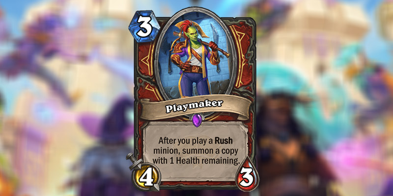 Playmaker is a New Warrior Card Revealed for Hearthstone's Scholomance Academy Expansion