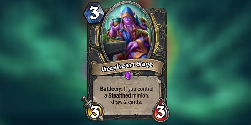 Greyheart Sage is a new Rogue Card Revealed for Hearthstone's Ashes of Outland Expansion
