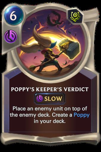 Poppy's Keeper's Verdict Card Image