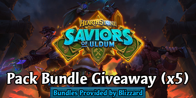 Saviors of Uldum - 5 Pack Bundles Giveaway