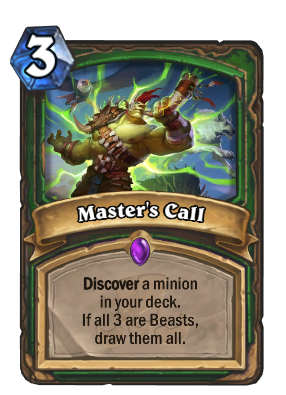 Master's Call Card Image