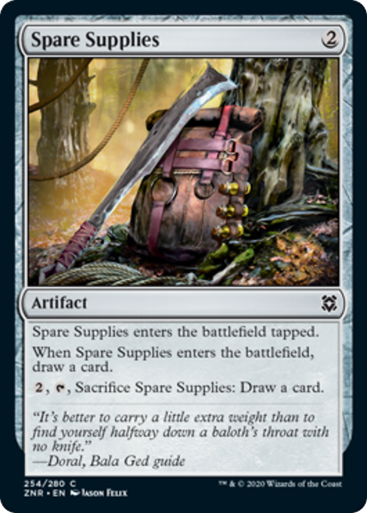 Spare Supplies Card Image