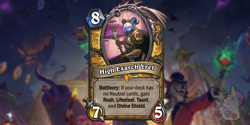 High Exarch Yrel is a New Paladin Legendary Revealed for Hearthstone's Darkmoon Faire Expansion