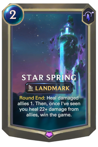 Star Spring Card Image