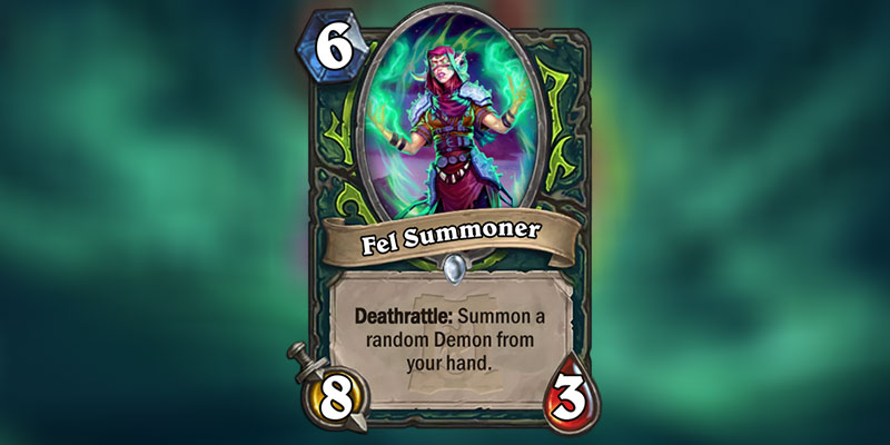 Fel Summoner is a new Demon Hunter Card Revealed for Hearthstone's Ashes of Outland Expansion