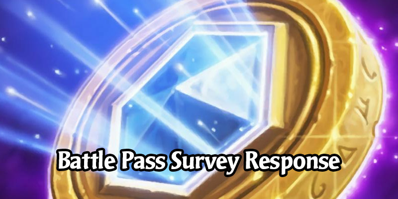 Blizzard Responds to the Hearthstone Battle Pass Survey - Current Reward Values to be Preserved, Play Hearthstone Your Way to Progress
