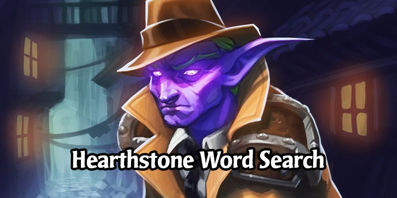 The Heroes of Hearthstone Word Search