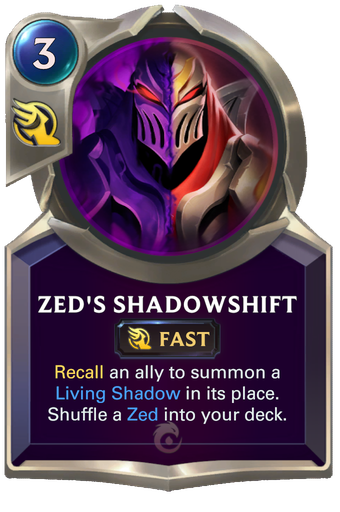 Zed's Shadowshift Card Image