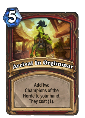 Arrival In Orgimmar Card Image