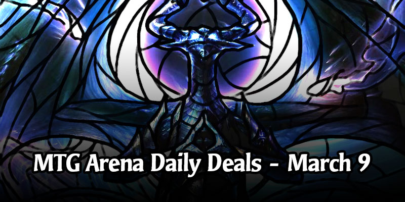 Daily Store Deals in MTG Arena for March 9, 2020 - 97% Off Stained Glass Nicol Bolas, Dragon-God