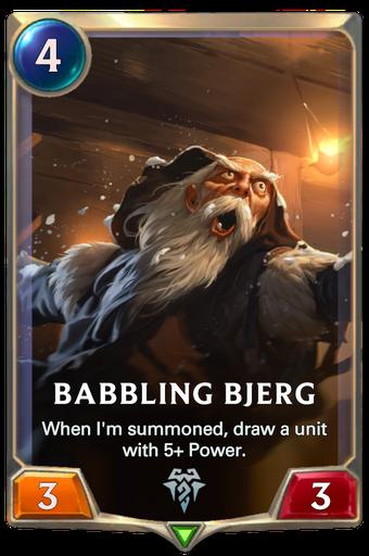 Babbling Bjerg Card Image