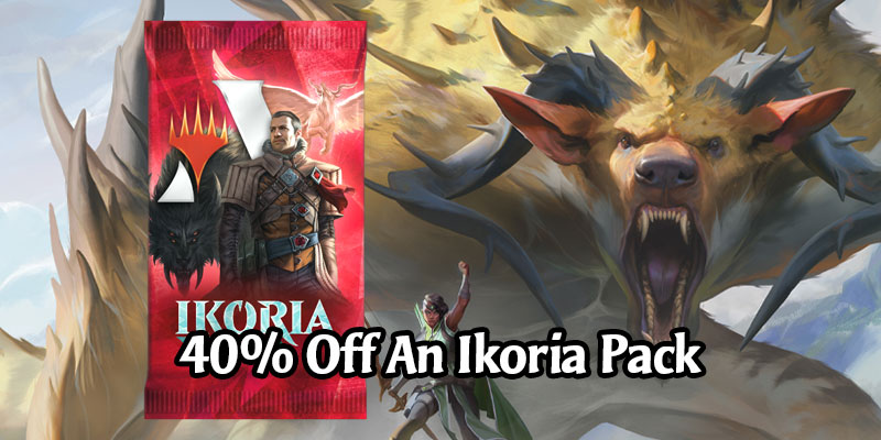 Get an Ikoria Pack Today for 600 Gold - 40% Discount! MTG Arena Daily Deals for May 5