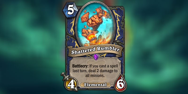 Shattered Rumbler is a new Shaman Card Revealed for Hearthstone's Ashes of Outland Expansion