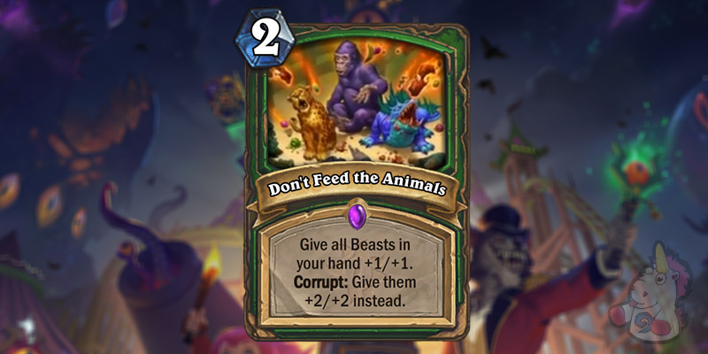 Two New Hunter Cards Revealed for Hearthstone's Darkmoon Faire Expansion - Petting Zoo & Don't Feed the Animals