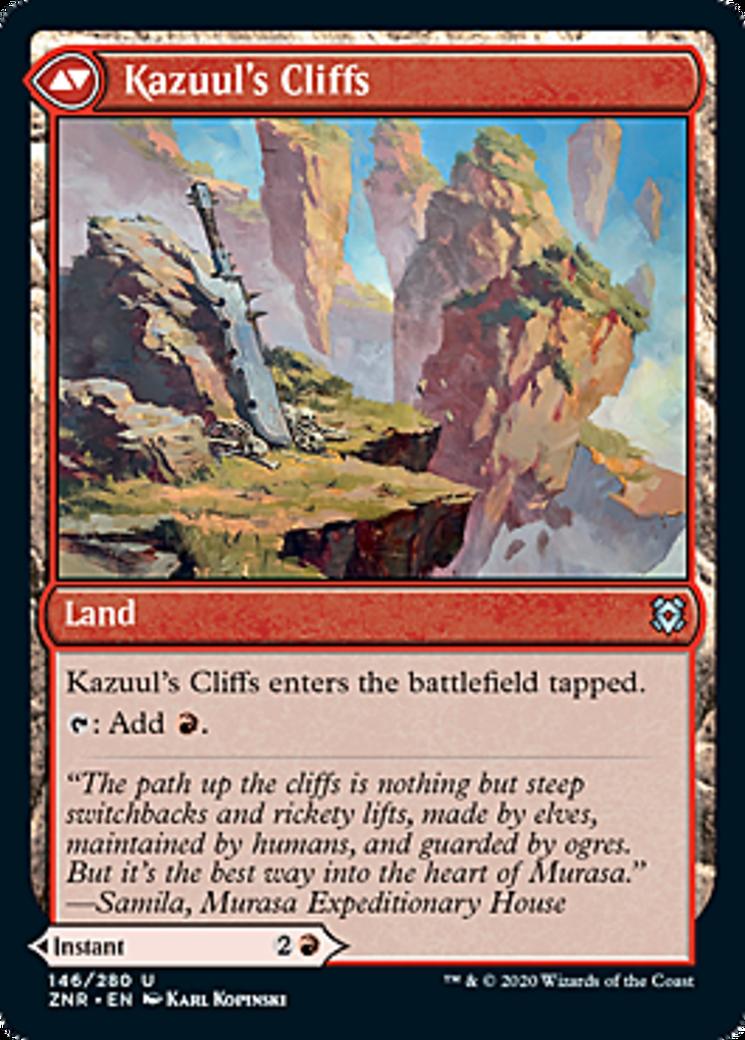Kazuul's Fury // Kazuul's Cliffs Card Image
