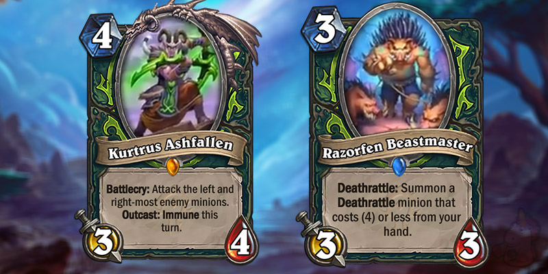 Blizzard Reveals Two New Forged in the Barrens Demon Hunter Cards - Legendary Kurtrus Ashfallen & Razorfen Beastmaster
