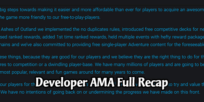 August 2020 Hearthstone Dev AMA Full Recap - Battle Pass, Battlegrounds, Arena, Dual Class in the Future