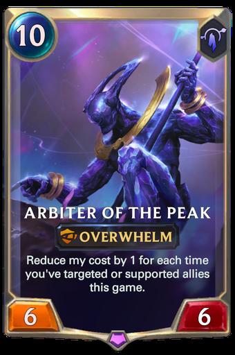 Arbiter of the Peak Card Image
