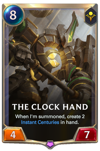 The Clock Hand Card Image