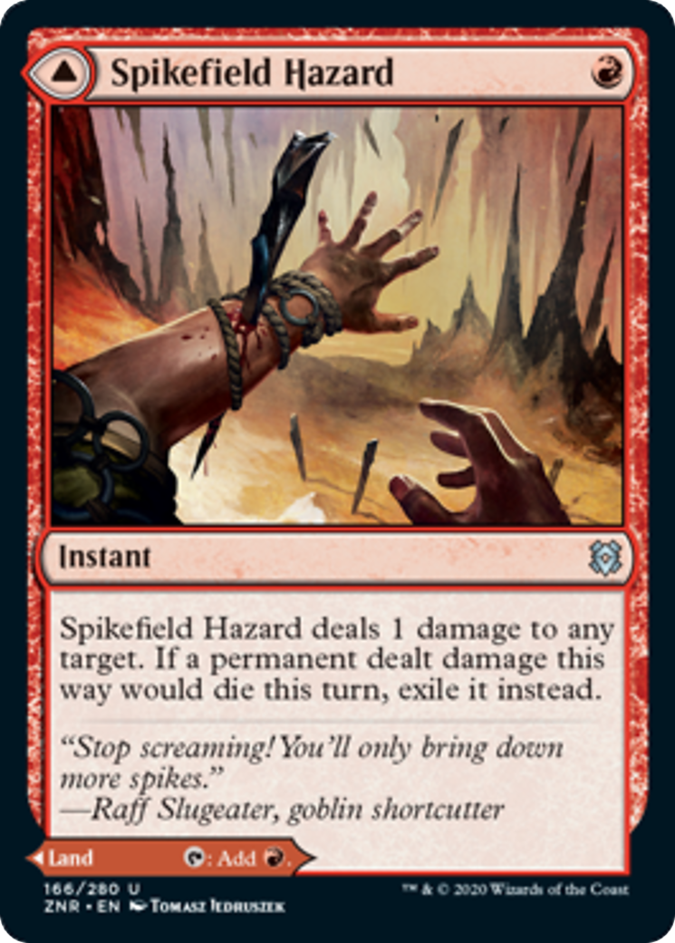 Spikefield Hazard // Spikefield Cave Card Image